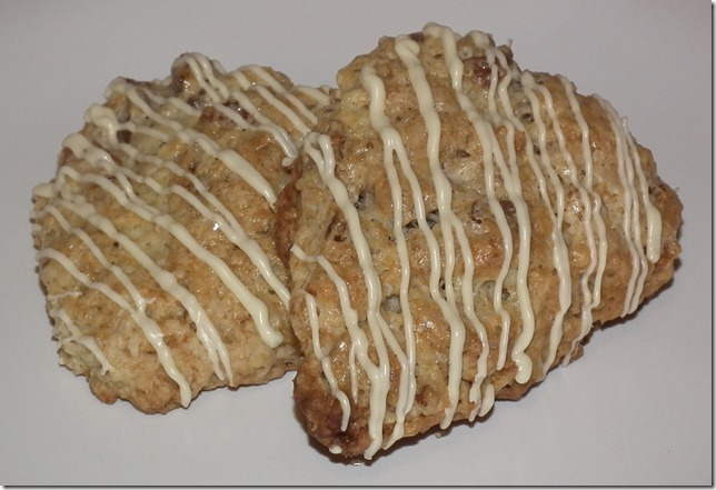 TWD--Oatmeal Nutmeg Scones w/pecans and apricots 5-23-11