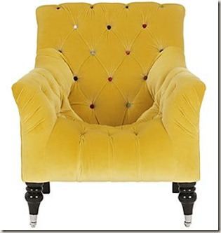John Lewis Gold Chair