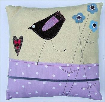 Maxine Pharoah - Dancing Chick Cushion