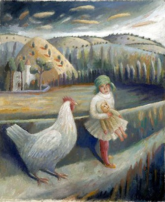 Kate Lynch - Leaving Home With Doll And Cockerel