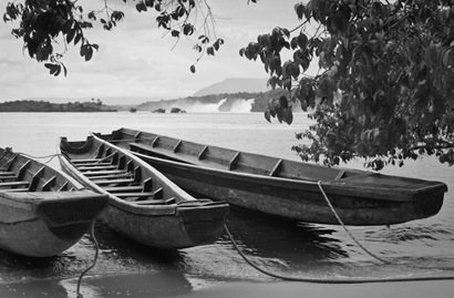 Boats on Salto Sapo - 2