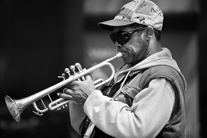 Trumpet Player on Constitution Avenue - 2
