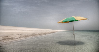 Umbrella in the Water - Abu Dhabi