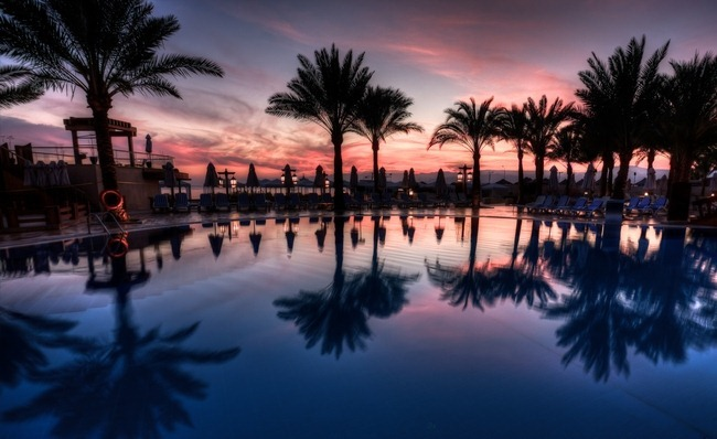 Sunset Pool at Intercontinental in Aqaba