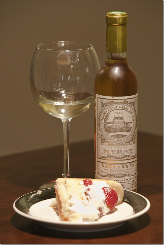 Twinkie Cake with 2003 Chateau de Myrat