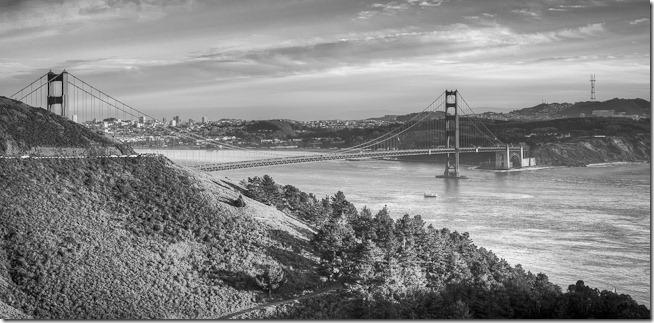 Golden Gate Black and White