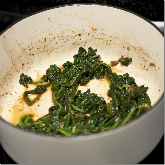Garlic Sauteed Baby Spinach