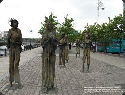 The Famine Memorial, Dublin.  17/06/08