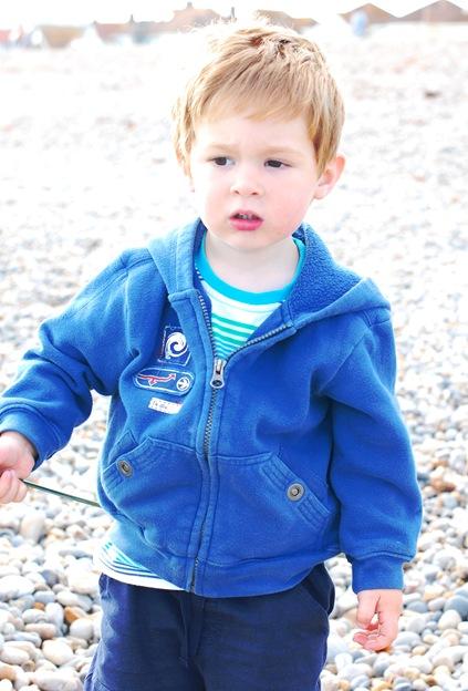 Charlie on Seaton beach. 29/07/2010