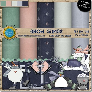Preview for Snow Games - Let Me Scrapbook