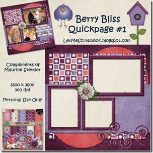 Preview for Berry Bliss QP #1 - Let Me Scrapbook