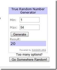 randomnumbershoofly