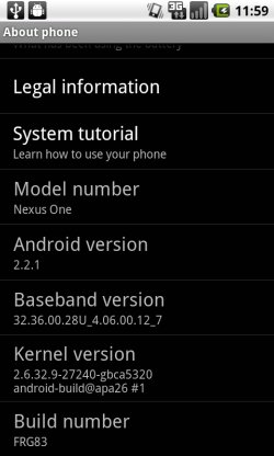 Android 2.2.1 - FRG83
