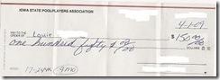 winning check