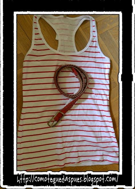 navy roja blanca y cinturon