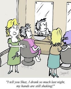 hairdresser cartoon
