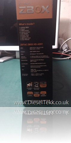 DieselTekk.co.uk Zotac ZBOX HD-ADO01 - Unboxing Image (1)