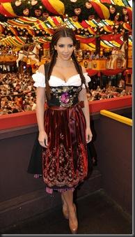 Kim Kardashian in Munich at Oktoberfest hottest cleavage 2