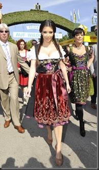 Kim Kardashian in Munich at Oktoberfest hottest cleavage 10