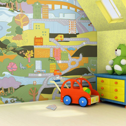 wallpaper kids bedroom. kids bedroom wallpaper design