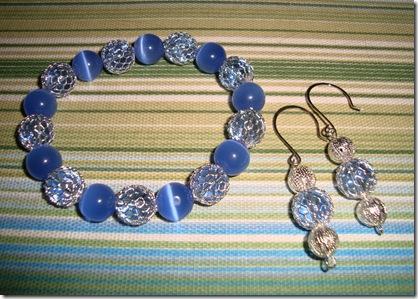 bracelets blue silver