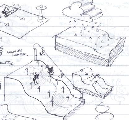 ski sketch