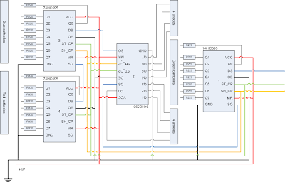 How to build a 88 rgb led matrix with pwm using an arduino theres a lot of wires so i put it into visio heres the result swarovskicordoba Choice Image