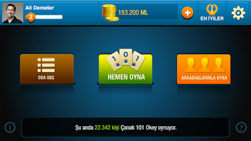 Screenshot of 101 Yüzbir Çanak Okey