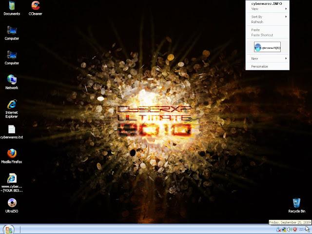 نسخة الاكس بي الخرافية CyberXP Ultimate Edition 2010 بحجم 1.2 جيجا على عدة سيرفرات Sshot-11