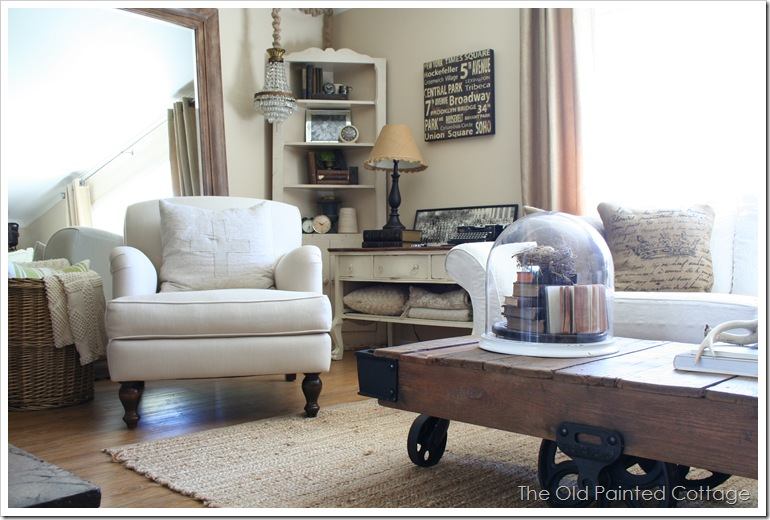 Cottage8 Our Living Room Redo New Chairs And A Winner The Old Milieu Home Goods Living Room s