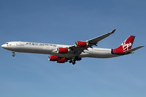 Airbus 340 Virgin Atlantic