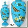 blue opaline urn