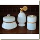 white opaline dresser set