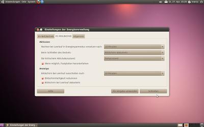 Ubuntu-Linux Optimierung: Energieverwaltung einstellen