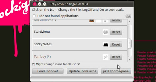 Ubuntu App des Tages: Tray Icon Changer