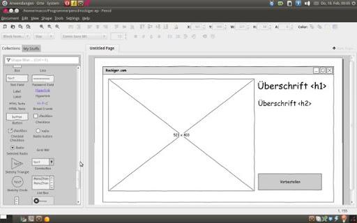 Ubuntu für Webworker: Pencil Programm