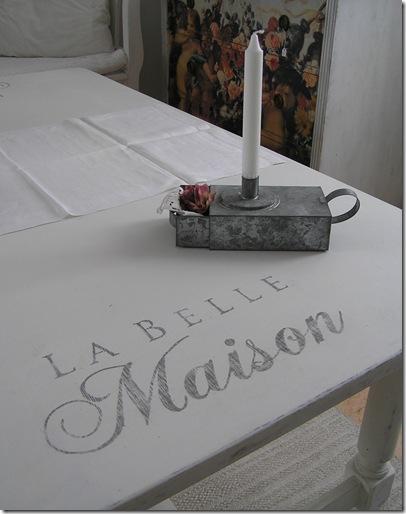 Stort sofbord La Belle Maison o ljusstake