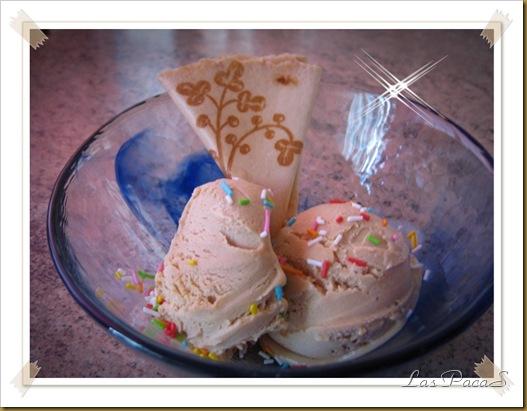 helado de turrón