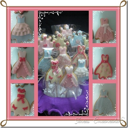 collage vestidos
