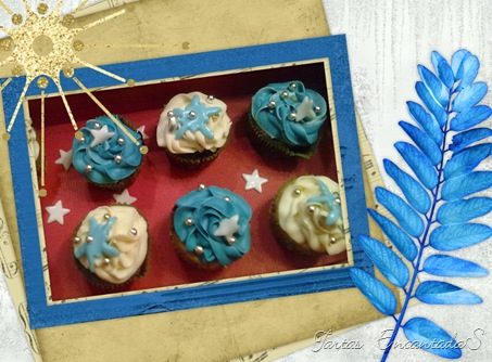 Picnik cupcakes navidad