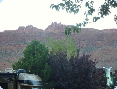 Utah OK RV Park View out Back Window