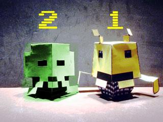 Drukk Invaders Papertoy - Squid