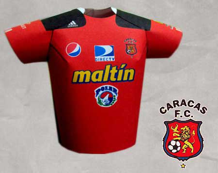 Futbol Jersey Papercraft Caracas FC Apertura 2010