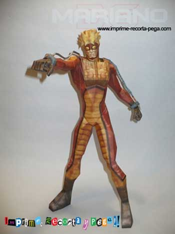 Marvel Comics Papercraft - Pyro