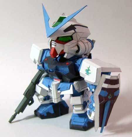 Gundam Astray Blue Frame Papercraft