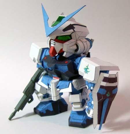 Gundam Astray Blue Frame Papercraft