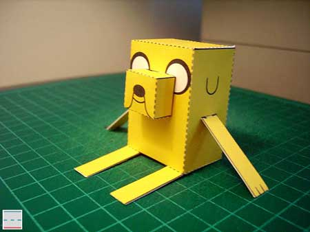 Adventure Time Paper Toy Jake