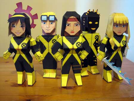 New Mutants Papercraft