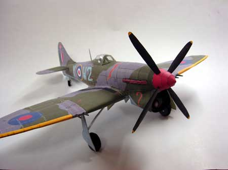 Hawker Tempest Papercraft