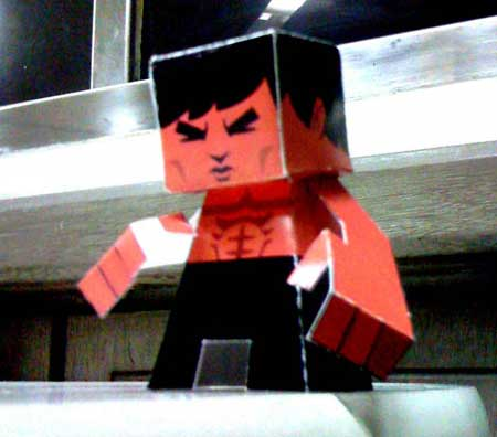 Bruce Lee Papercraft